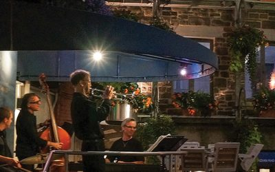 Live jazz music at Jardin Nelson